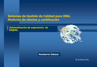 Sistemas de Gesti n de Calidad para ONG. Medici n de efectos y certificaci n
