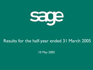 Results for the half-year ended 31 March 2005