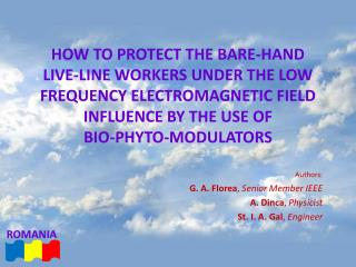 How to Protect The Bare-hand  Live-line Workers Under THE Low Frequency Electromagnetic Field Influence BY THE USE OF  B