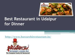 Best Restaurant in Udaipur for Dinner