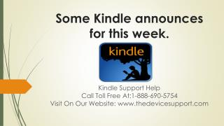 Some Kindle announces for this week.