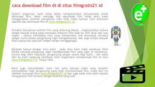 cara download film di di situs filmgratis21