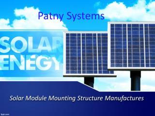 Solar Structure Manufactures