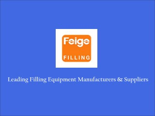 Filling Equipments Suppliers