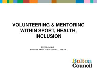 VOLUNTEERING  MENTORING WITHIN SPORT