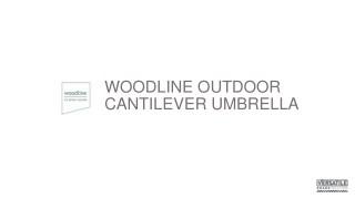 Versatile Woodline Parasol
