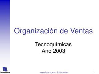 Organizaci n de Ventas
