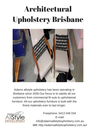 Architectural Upholstery Brisbane