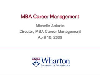 MBA Career Management
