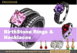 Most Stylish & Affordable Birthstone Rings,Necklaces - Dajos Collections