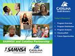 SAMHSA and Catalina Partnership