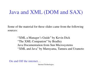 Java and XML DOM and SAX