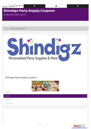 shindigz party decorations