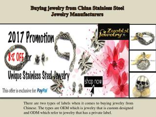Buying jewelry from China Stainless Steel Jewelry Manufacturers