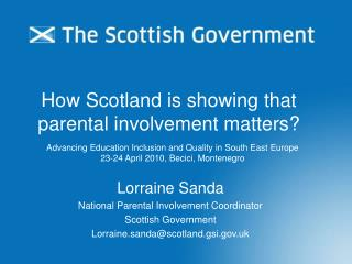 How Scotland is showing that  parental involvement matters