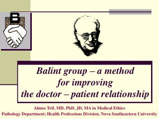 Balint group   a method  for improving  the doctor   patient relationship