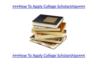 Rules on Applying for free Scholarship