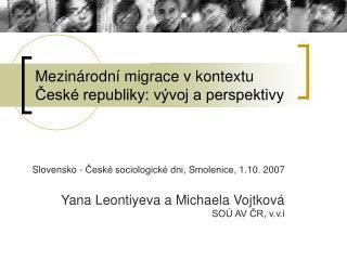 Mezin rodn  migrace v kontextu Cesk  republiky: v voj a perspektivy