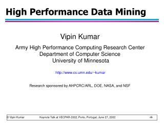 High Performance Data Mining