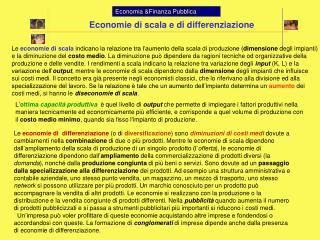 Economia Finanza Pubblica