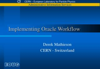 Implementing Oracle Workflow
