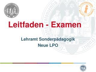 Leitfaden - Examen