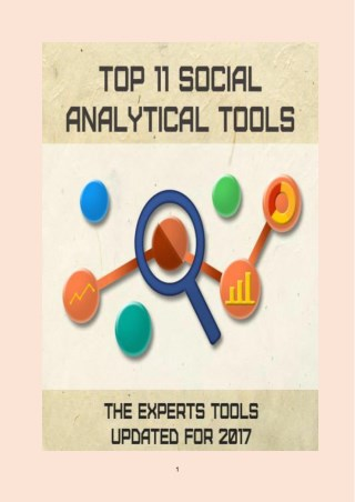 Top 11 Social Analytical Tools
