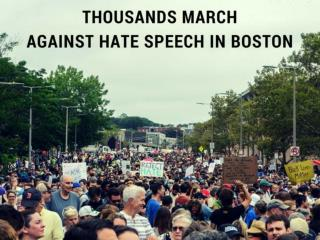 Boston Rival Rallies: Thousands march against hate speech