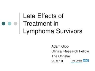 Late Effects of Treatment in Lymphoma Survivors