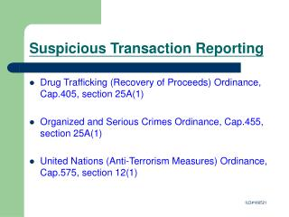 Suspicious Transaction Reporting