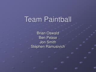 Team Paintball