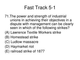 Fast Track 5-1