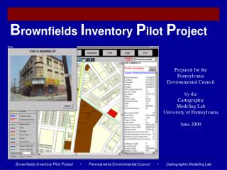 Brownfields Inventory Pilot Project