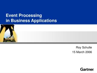 Event Processing in Business Applications