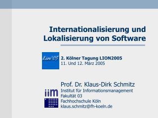 Internationalisierung und  Lokalisierung von Software