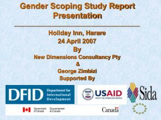 Gender Scoping Study Report Presentation __________________________________________