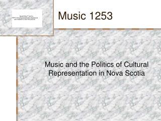 Music 1253