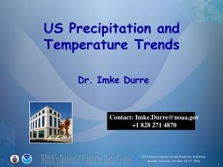US Precipitation and Temperature Trends