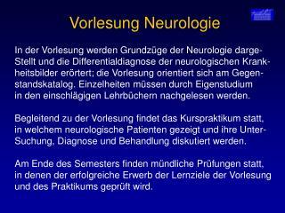 Vorlesung Neurologie