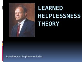 Learned Helplessness Theory