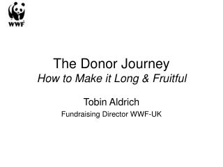The Donor Journey How to Make it Long  Fruitful