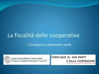 La fiscalit  delle cooperative
