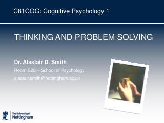 C81COG: Cognitive Psychology 1