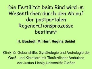 Die Fertilit t beim Rind wird im Wesentlichen durch den Ablauf der postpartalen Regenerationsprozesse bestimmt