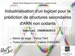 Industrialisation dun logiciel pour la pr diction de structures secondaires dARN non codants