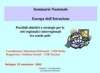 Seminario Nazionale  Europa dell Istruzione