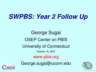 SWPBS: Year 2 Follow Up