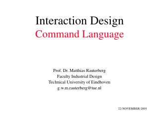 Interaction Design Command Language