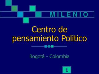 Centro de pensamiento Politico
