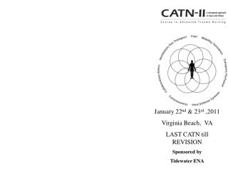 January 22nd  23rd ,2011 Virginia Beach,  VA LAST CATN till REVISION Sponsored by  Tidewater ENA